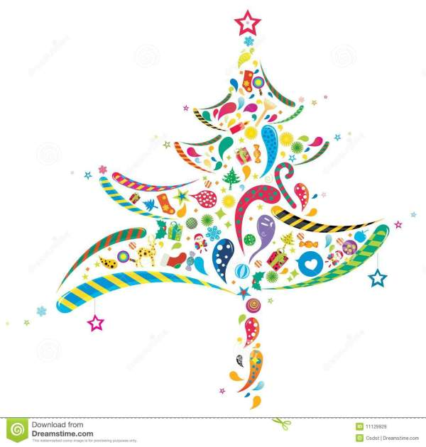 Abstract Christmas Tree Clip Art Free