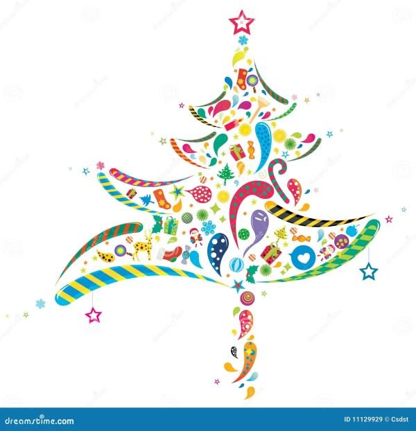Abstract Christmas Tree Clip Art Free