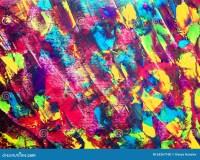Abstrakte Farbe Der Kunst Mit Acrylfarben Stock Abbildung ...