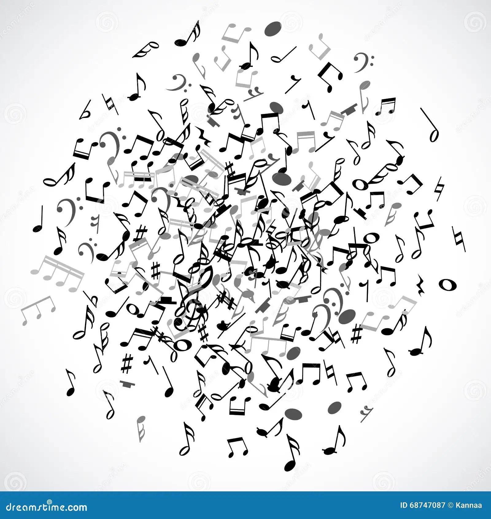 Abstrakter Musikalischer Punkt Mit Schwarzen Noten über