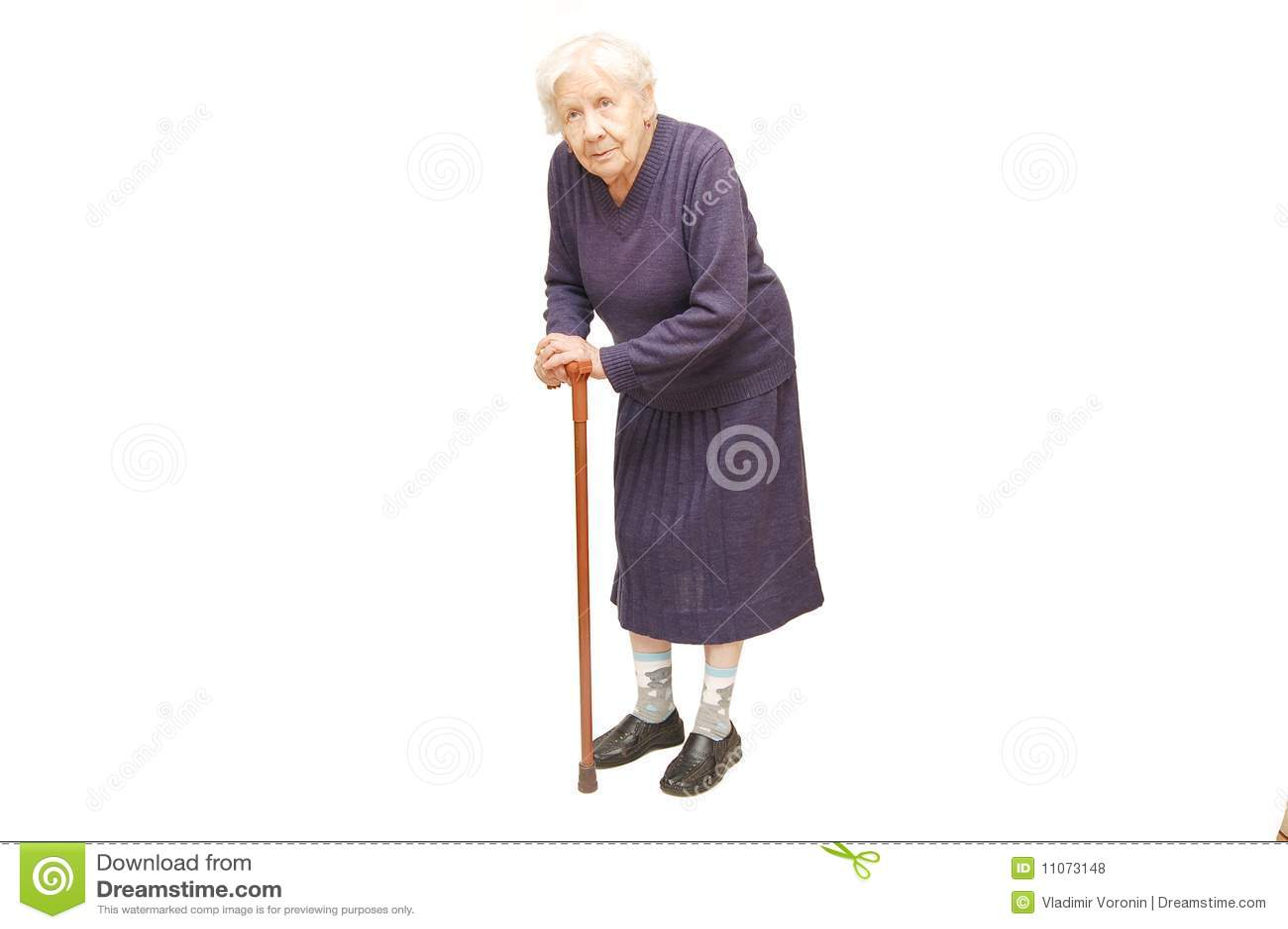 Abuela Que Sostiene Un Bastn Foto De Archivo Imagen De