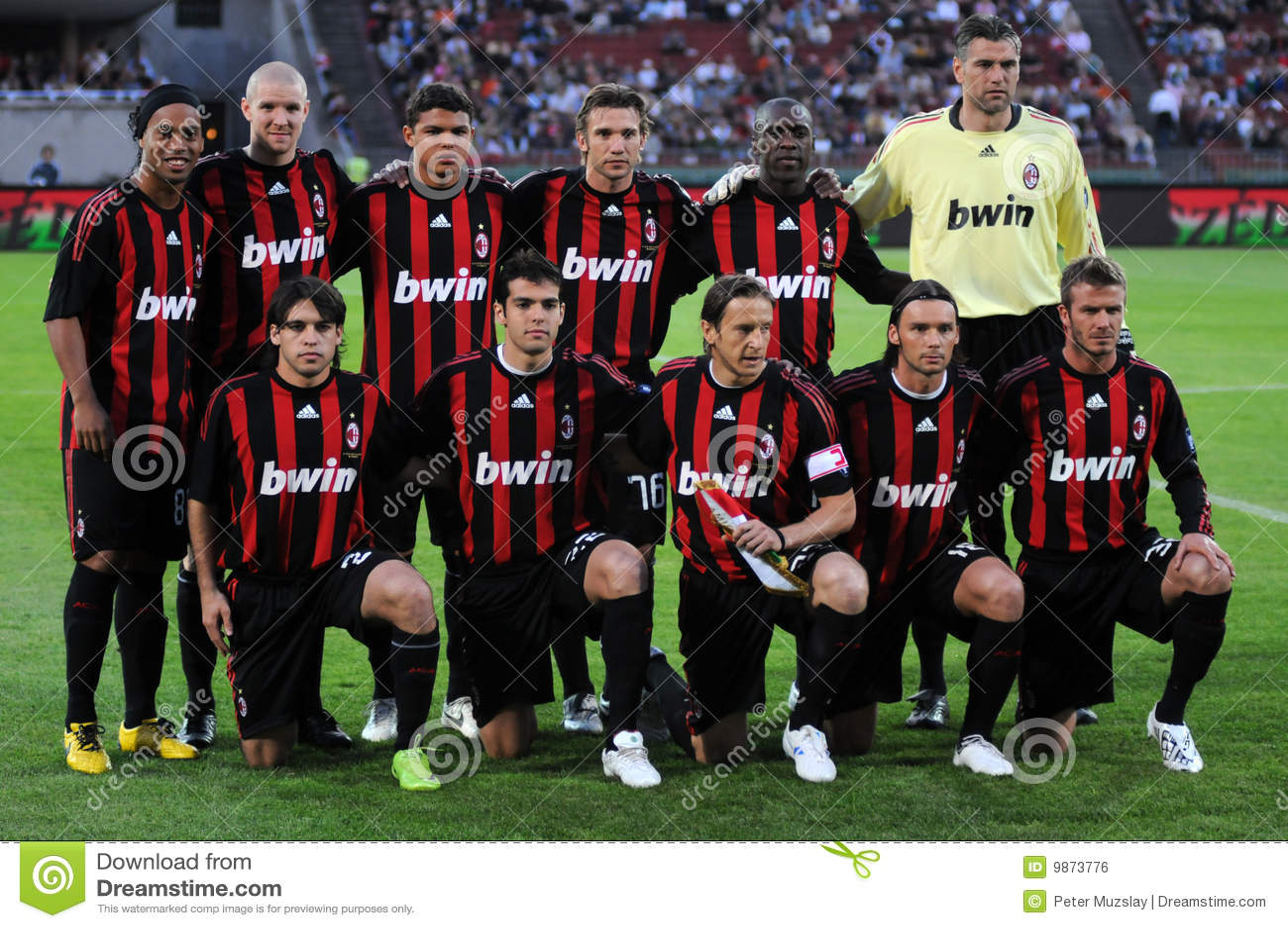 AC Milan Football Team Editorial Photo  Image 9873776