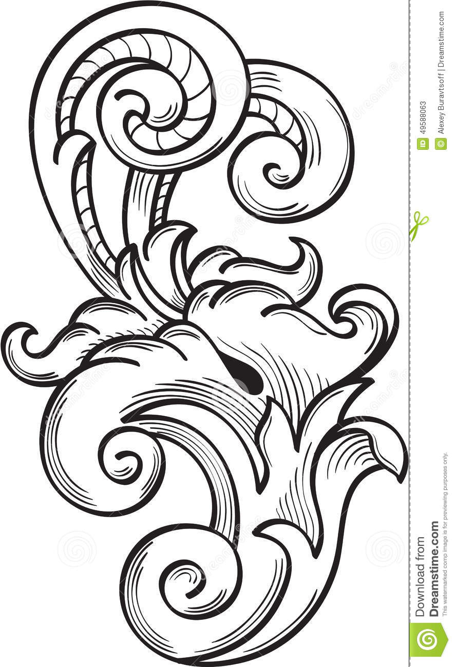 Acanthus pattern stock vector. Illustration of curve