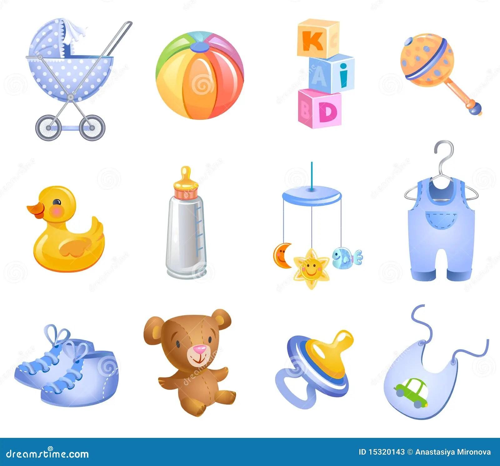 Accesorios para el beb ilustracin del vector