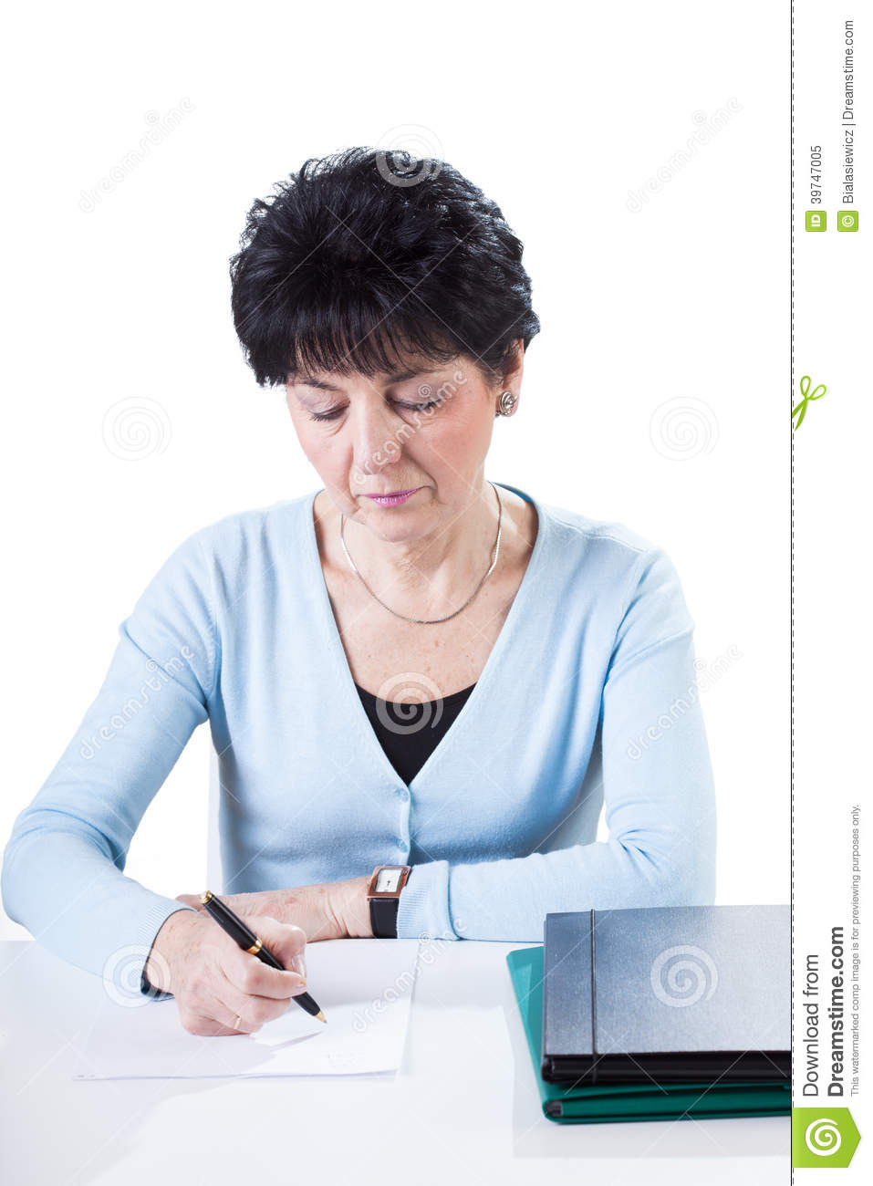 Accountant Wiriting By Desk Stock Image - Image of employee. black: 39747005