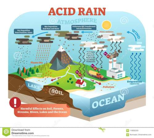 small resolution of acid rain cycle in nature ecosystem isometric infographic scene diagram of acid rain cycle
