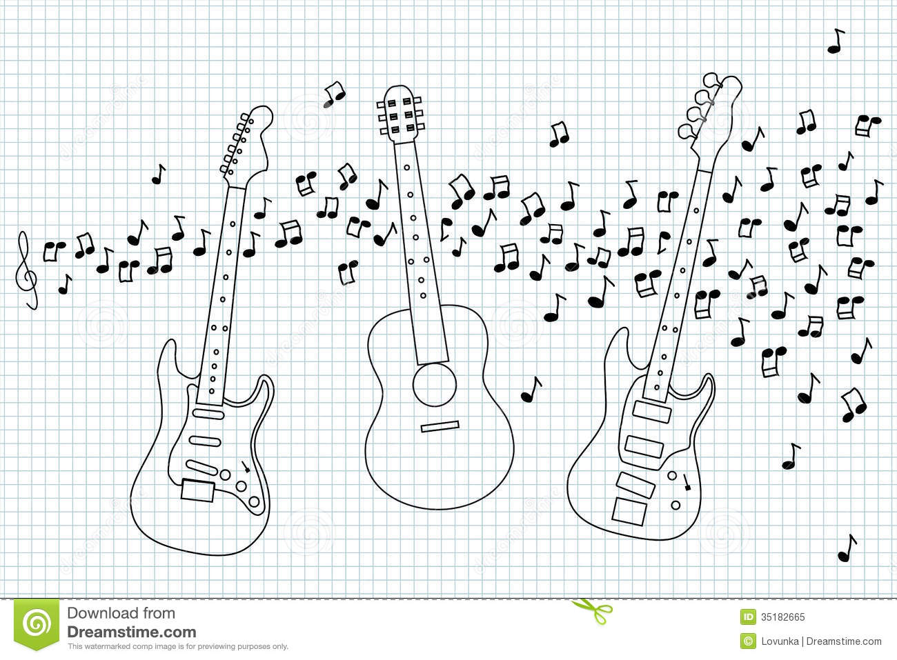 Acoustic Electric And Bass Guitar Royalty Free Stock Photo