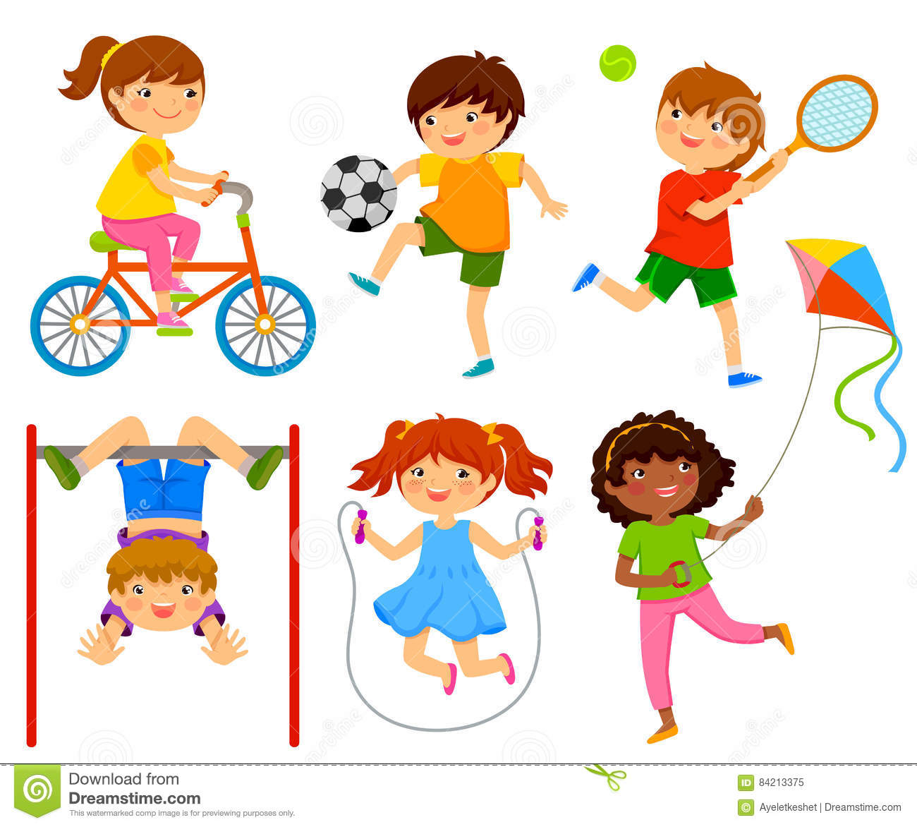 Active Kids Stock Vector Illustration Of Active Happy