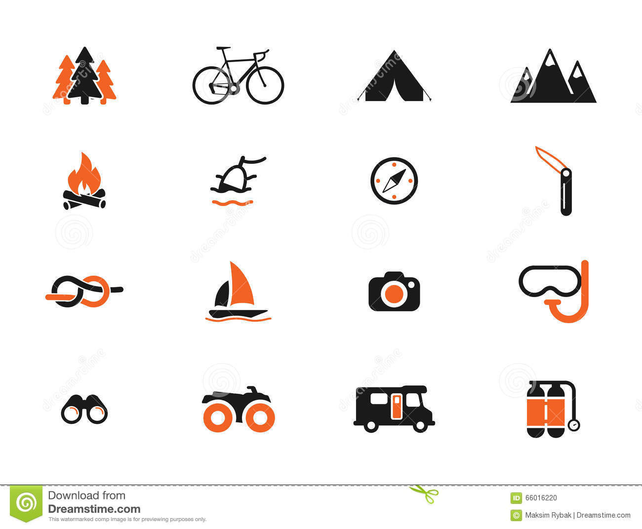 Active recreation icon set stock vector. Illustration of