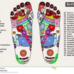 Reflexology Foot Diagram Reflex Zones Rill Erosion Acupuncture Points On The Feet