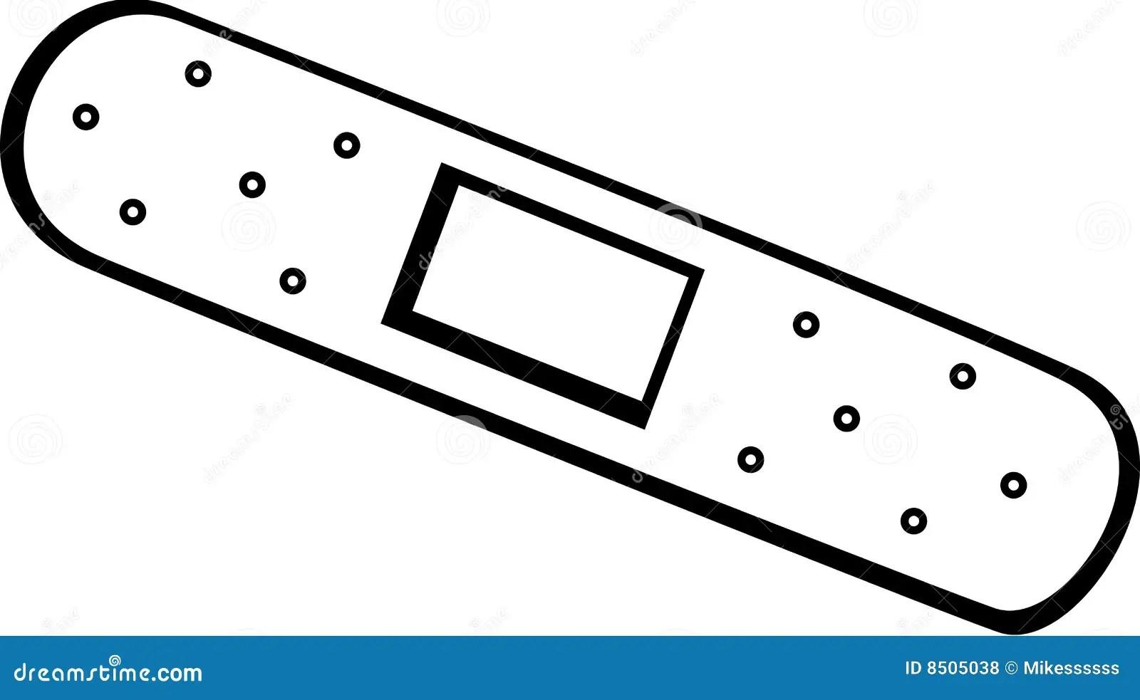 Adhesive Bandage Vector Illustration Royalty Free Stock