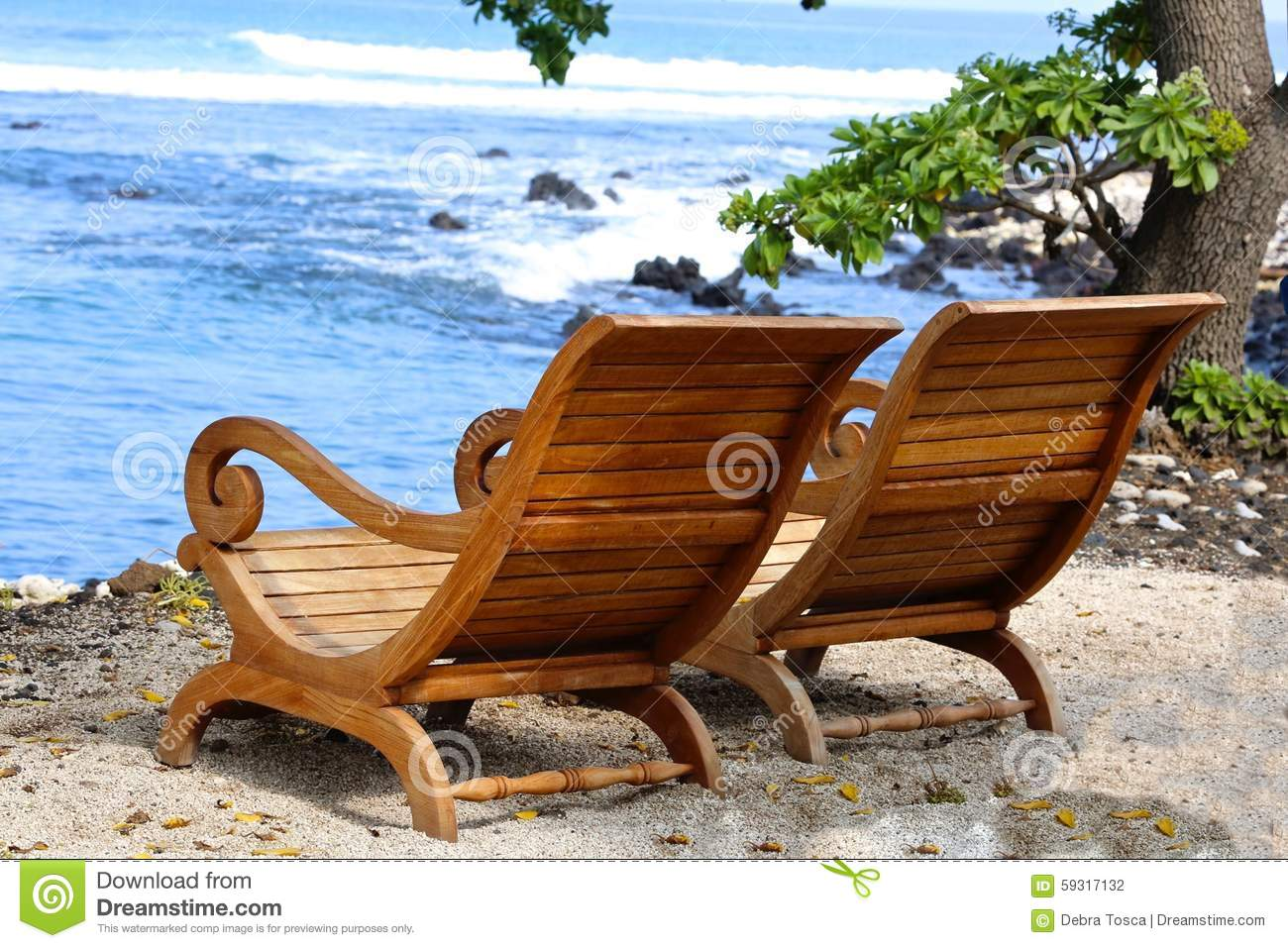 Hawaiian Chair Adirondack Chairs Beach Stock Photos Royalty Free Images