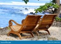 Adirondack Chairs Beach Hawaii Stock Photo - Image: 59317132