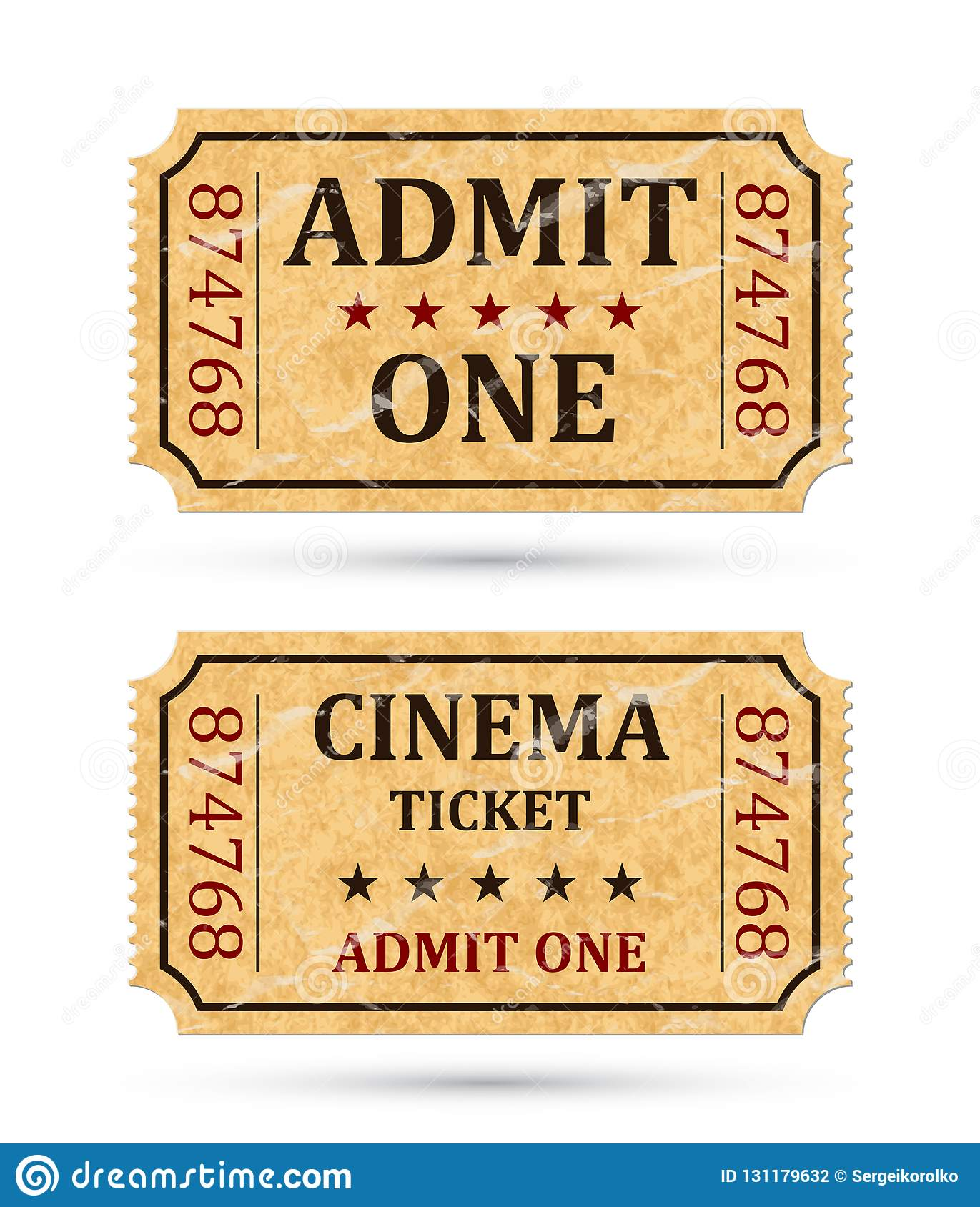 admit one ticket and