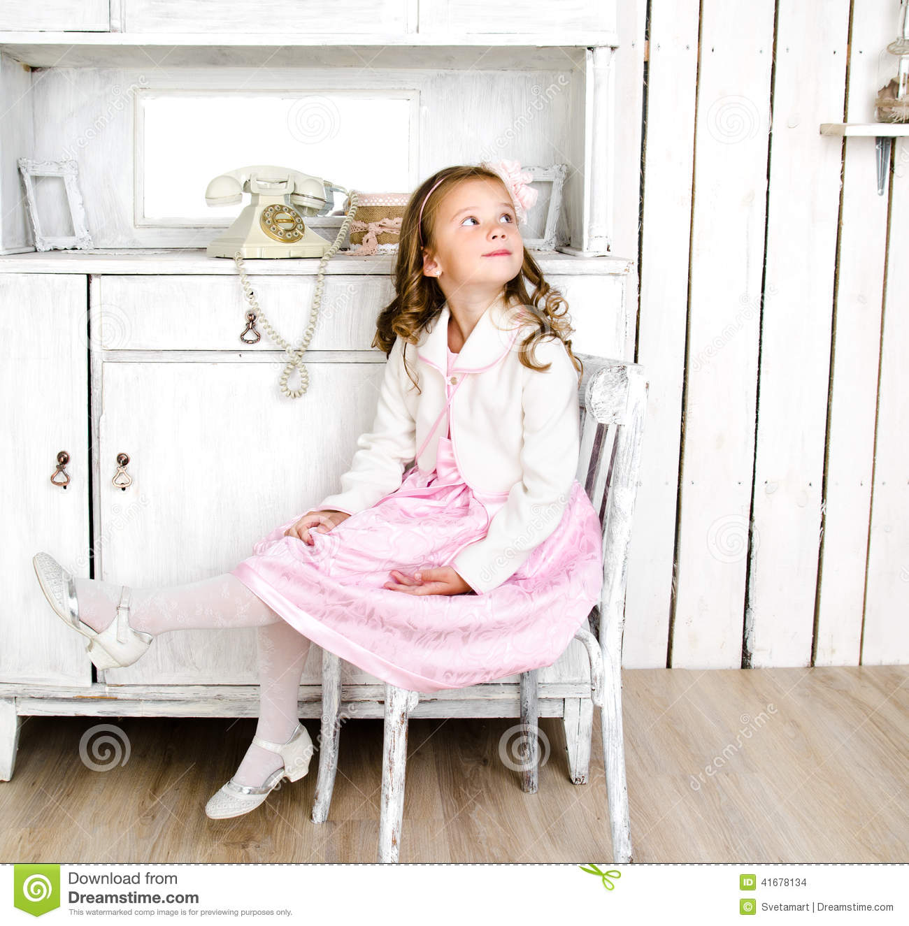 little girl chairs folding chair upcycle adorable sitting on stock photo image of curl