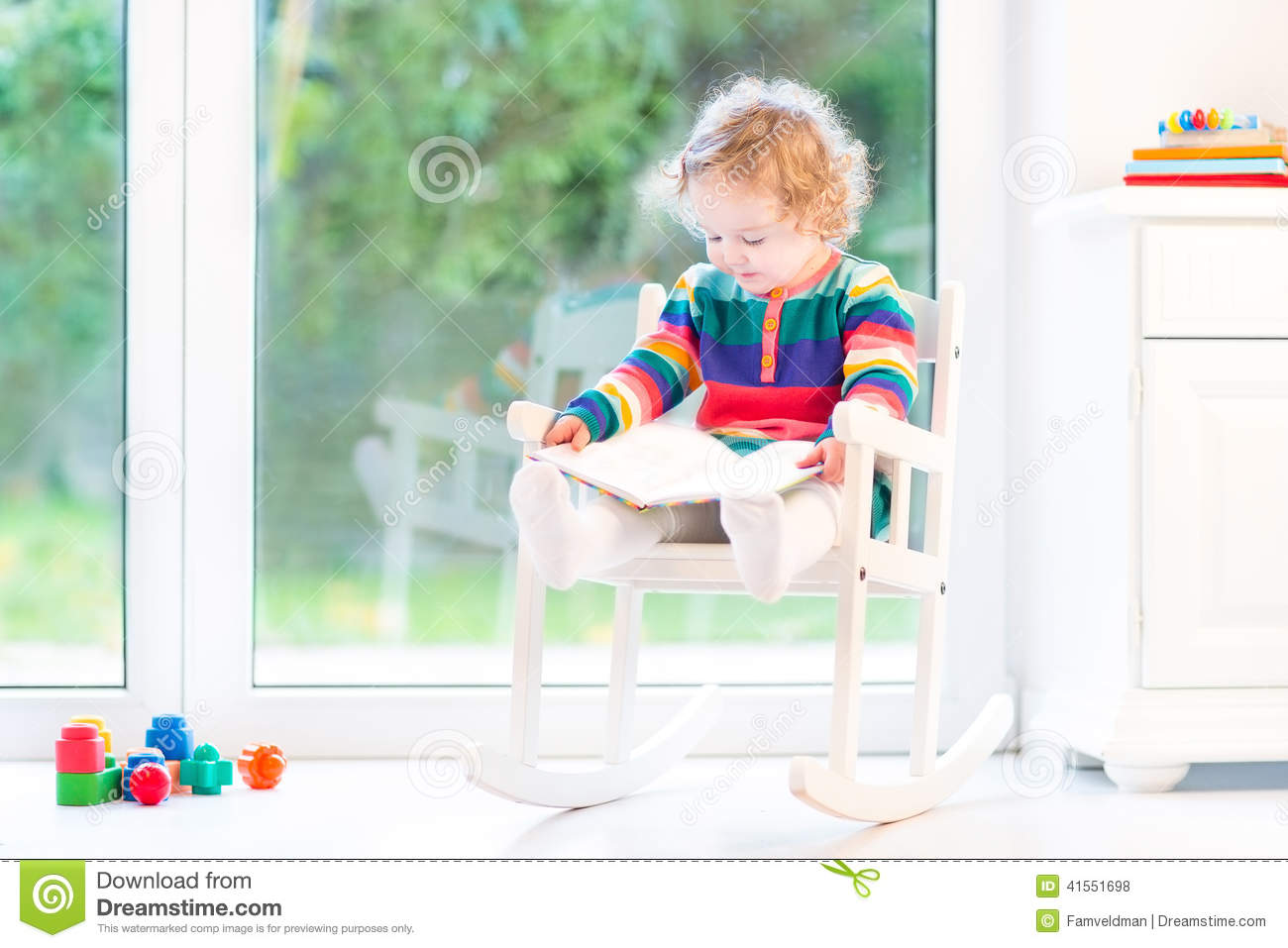 toddler reading chair comfy oversized book royalty free stock image