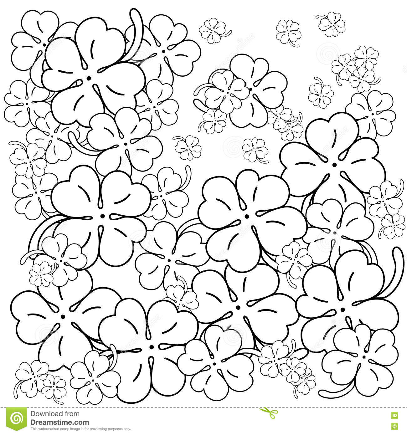 Saint Patrick Day Coloring Book Cartoon Vector
