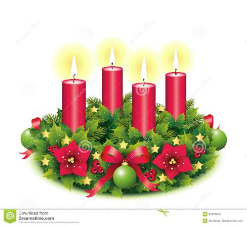 small resolution of advent wreath four burning candle
