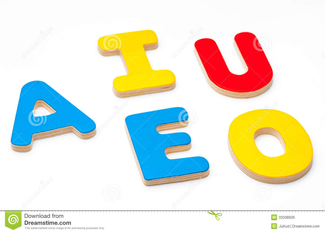 Aeiou Five Letters Of The Alphabet Stock Photo