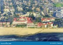 Aerial View Of Coronado Island San Diego Stock