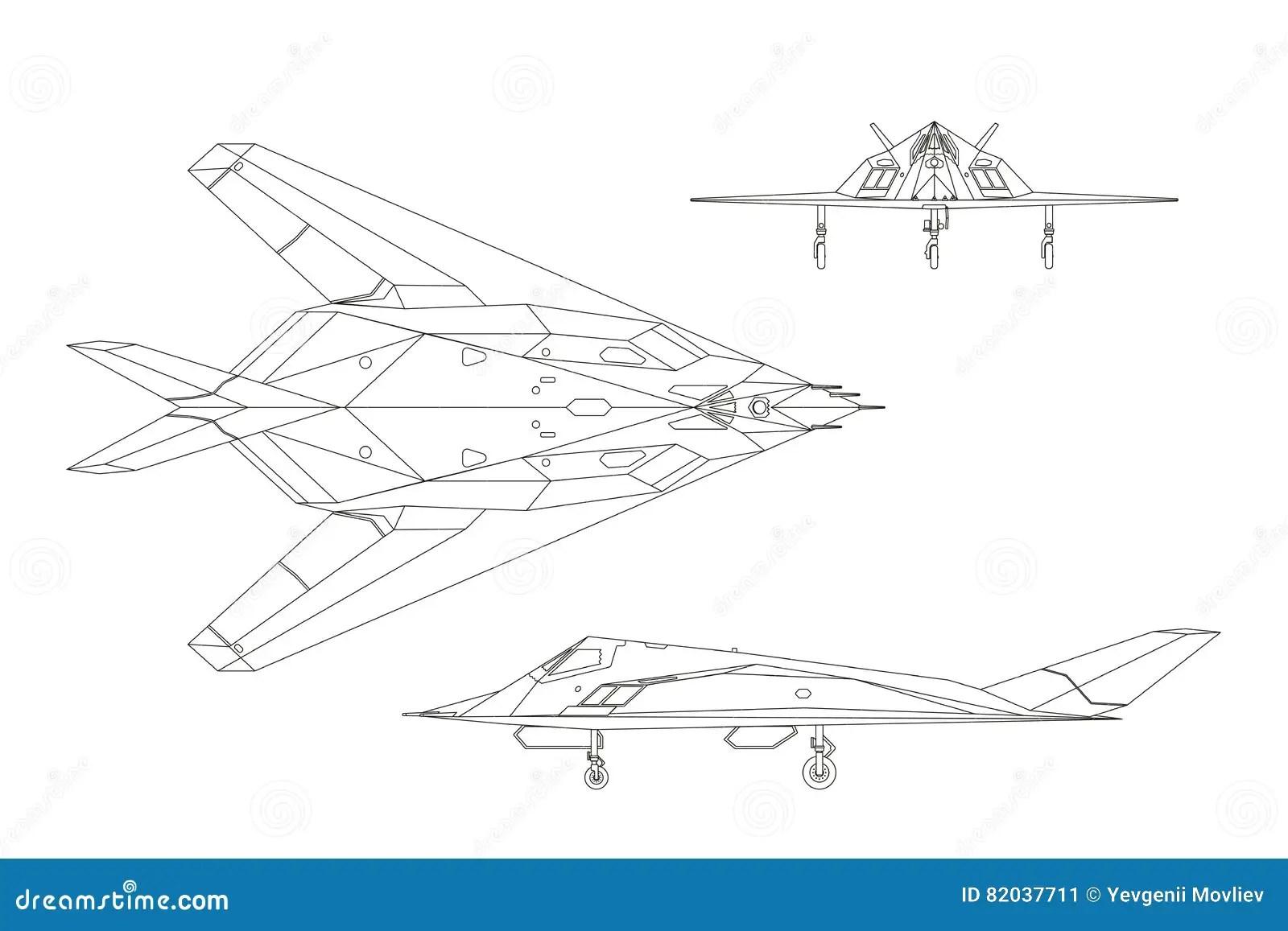 Aero Alca L 159 Konturnzeichnung Des Kampfflugzeugs Spitze