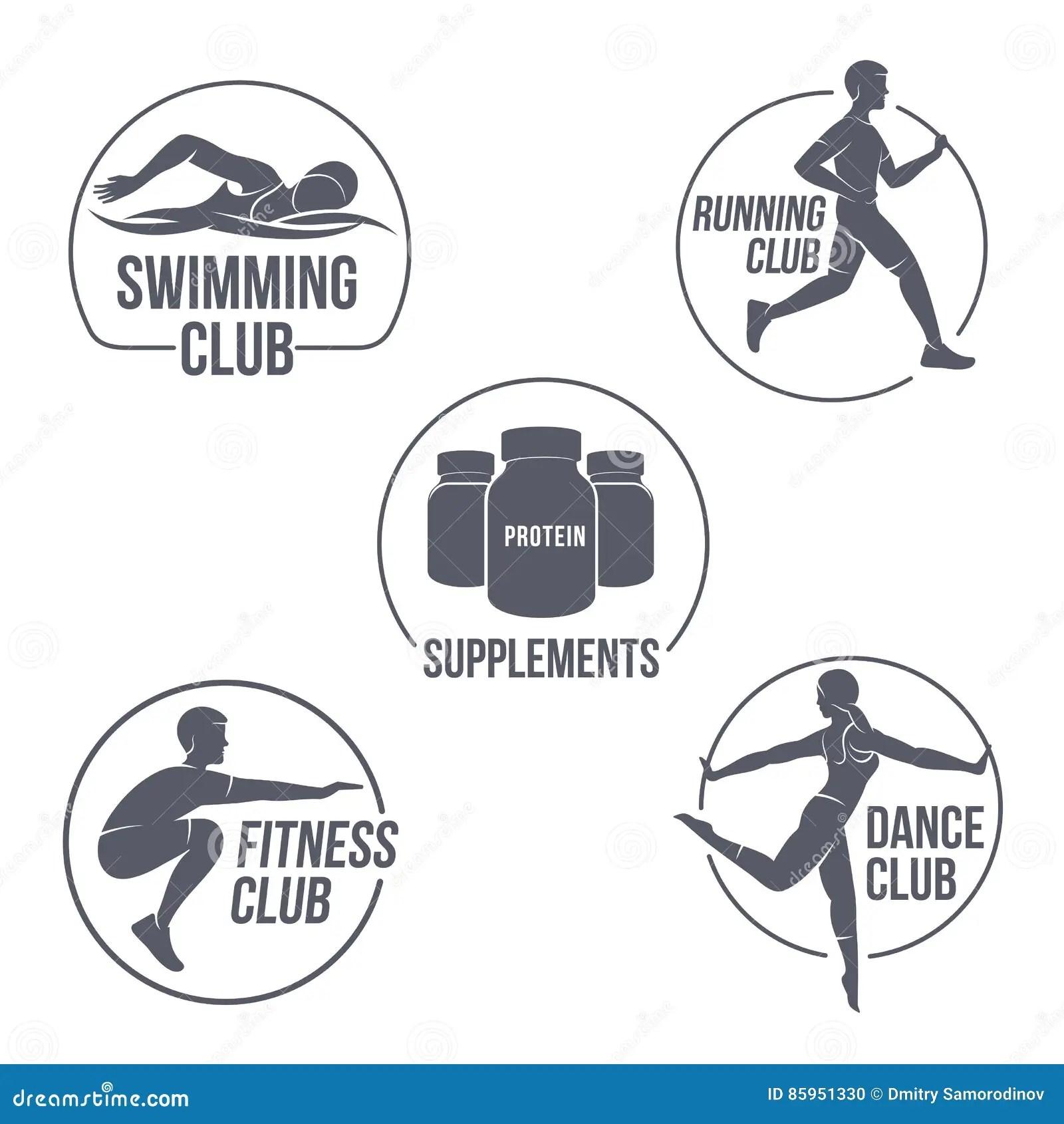 Aerobic workout logo stock illustration. Illustration of