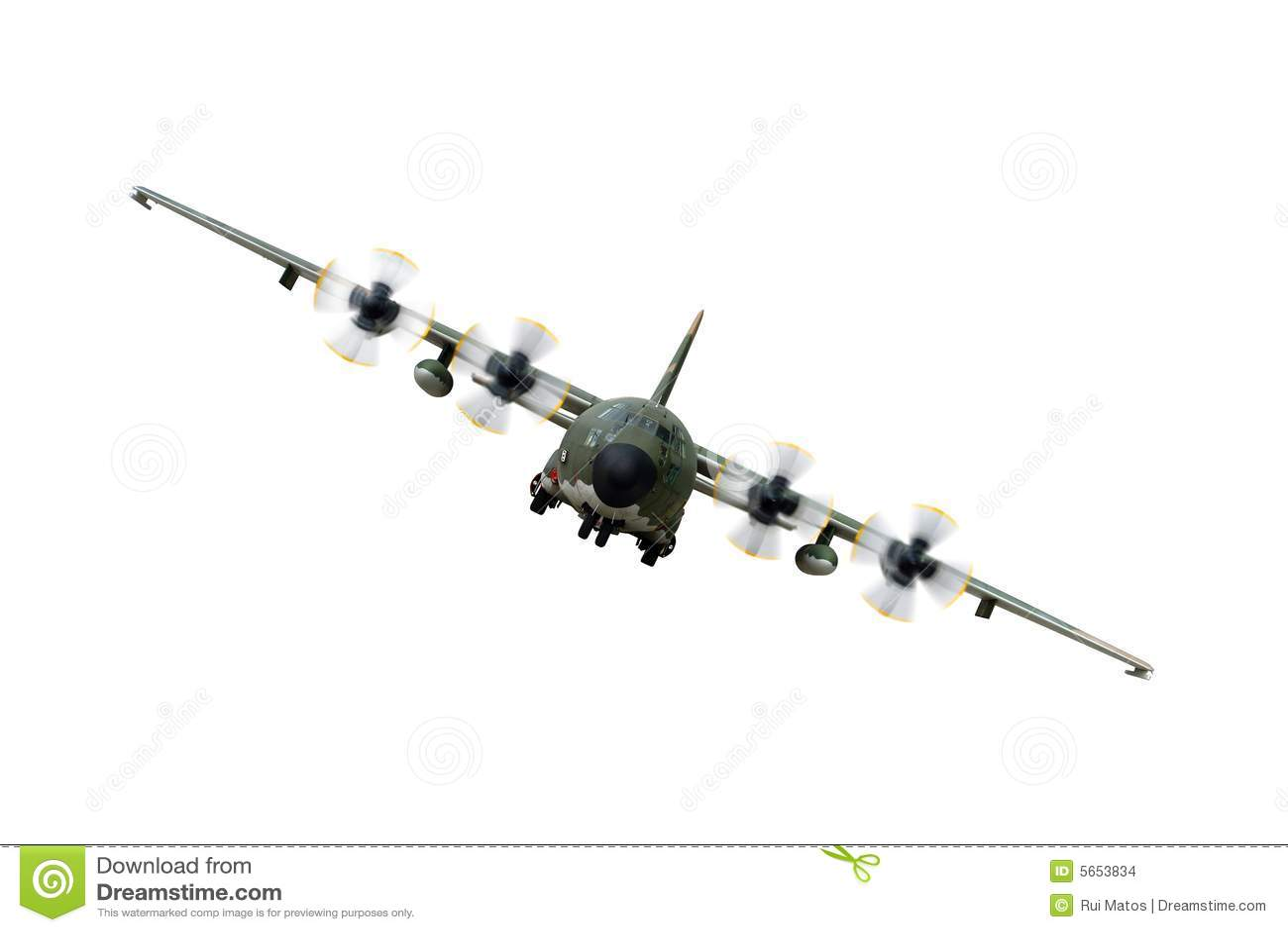 Aeroplano De Los Militares C130 Foto De Archivo