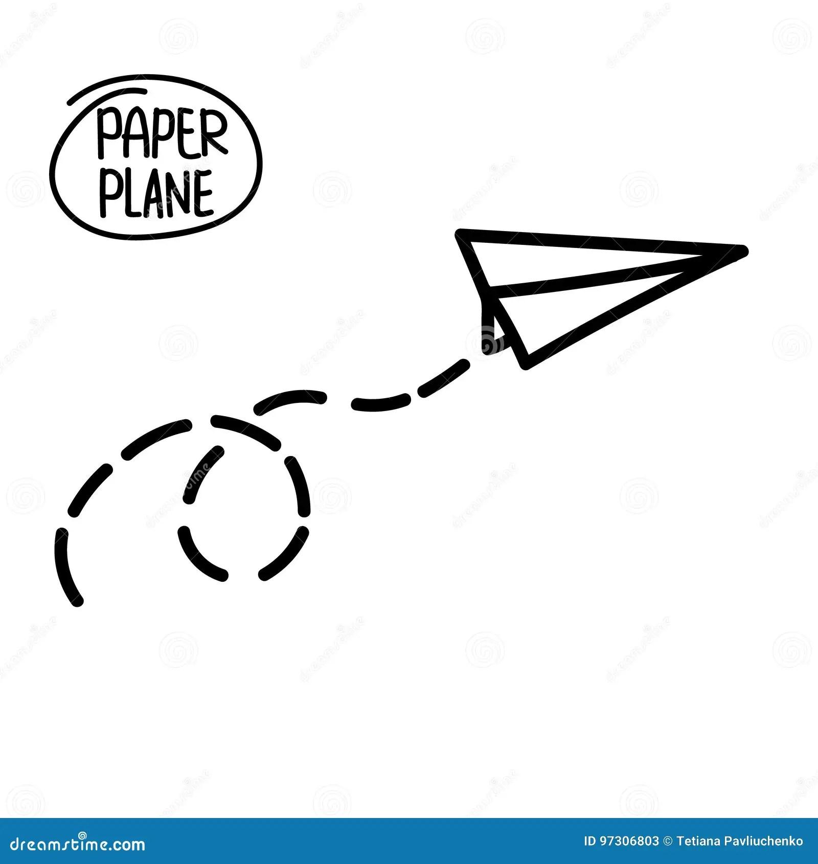 Aeroplano Disegnato A Mano Di Scarabocchio Icona Piana Di