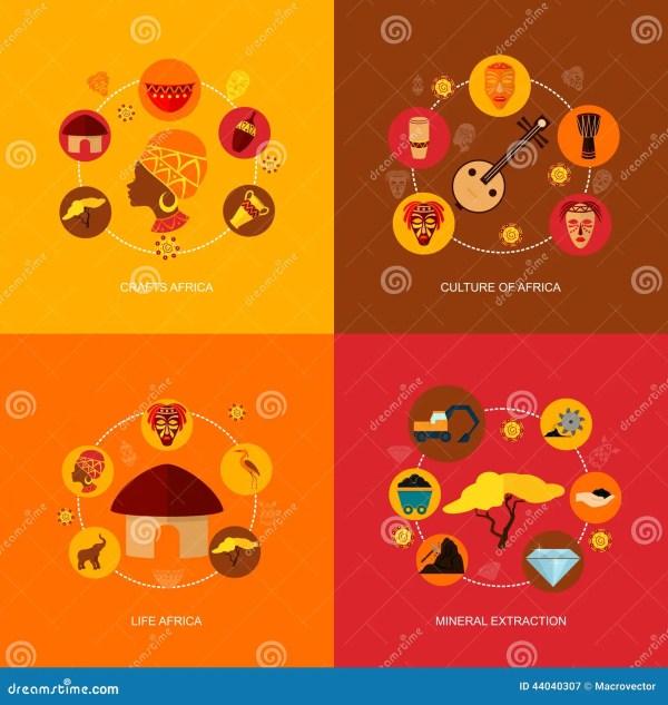 Africa Icon Illustrations