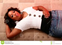 African American Girl Laying O Stock Image - Image: 2893383