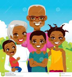 cute african american grandparents with grandchildren family together on park smiling happy [ 1300 x 1390 Pixel ]
