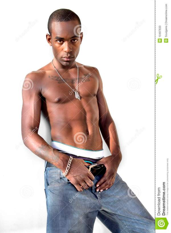 African American Man With Attitude Stock