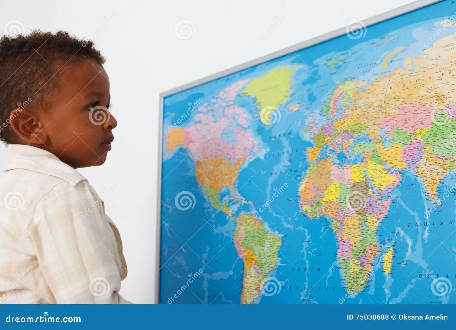 African American Preschool Boy Stock Photo
