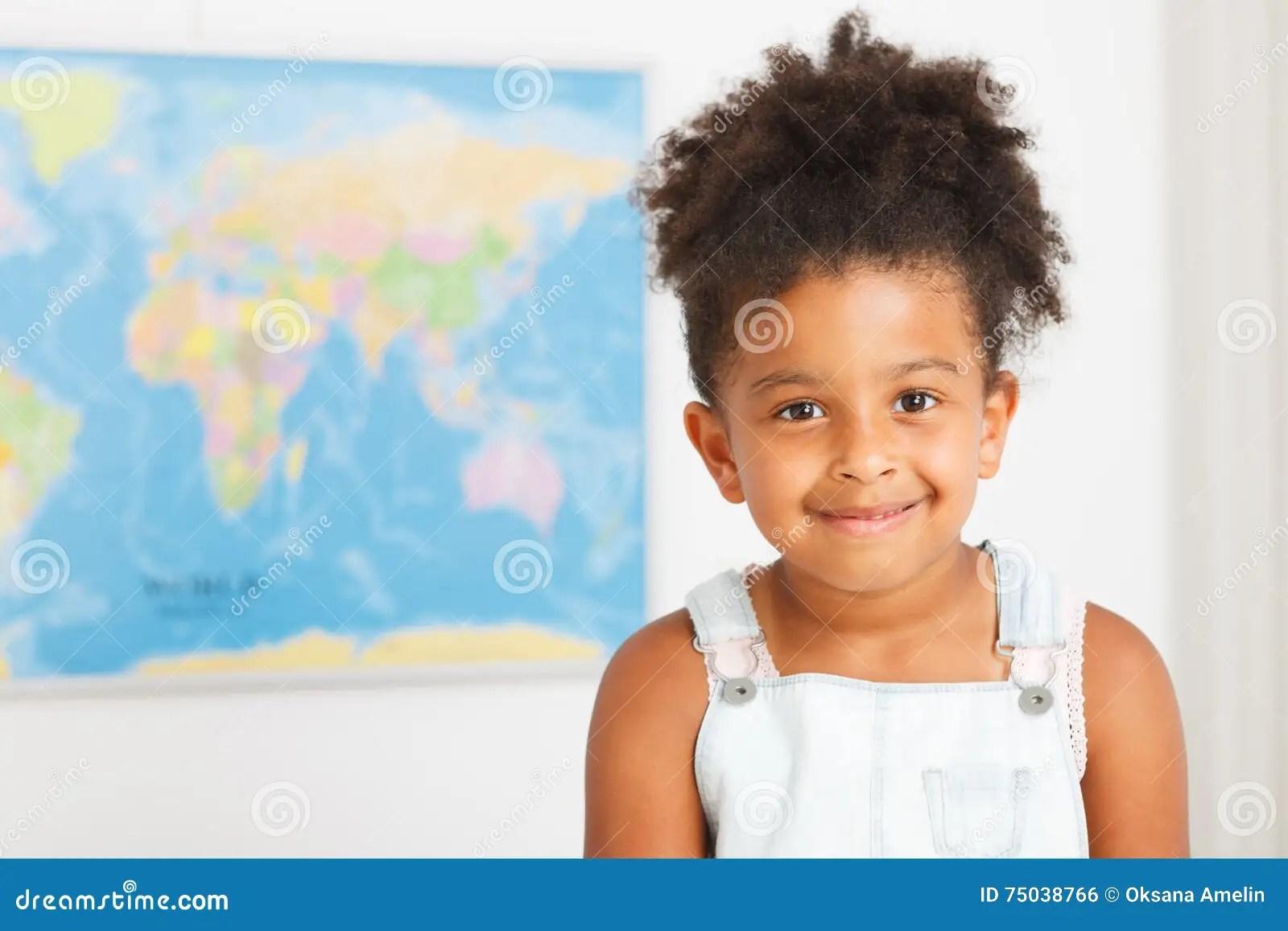 African American Preschool Girl Stock Photo