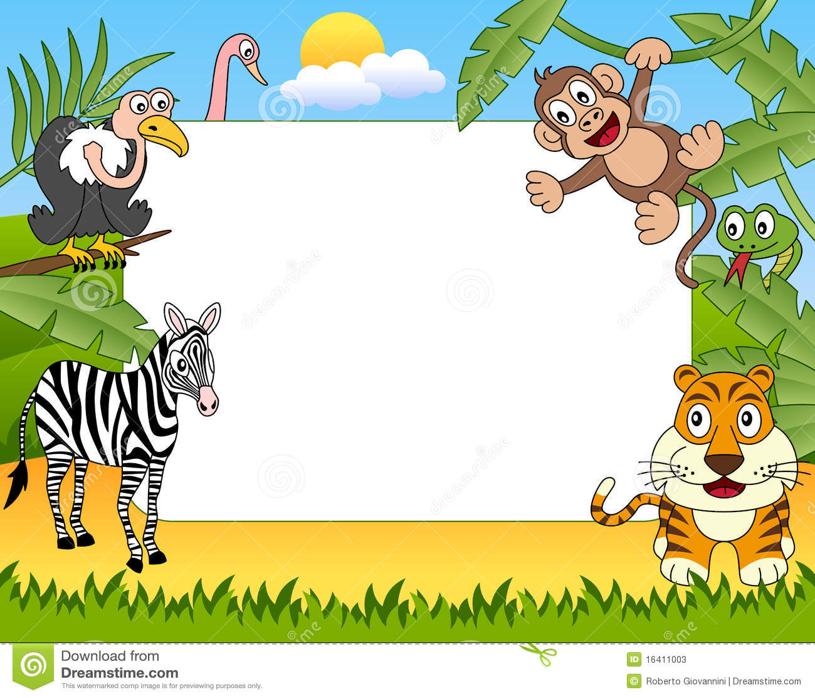 african animals photo frame