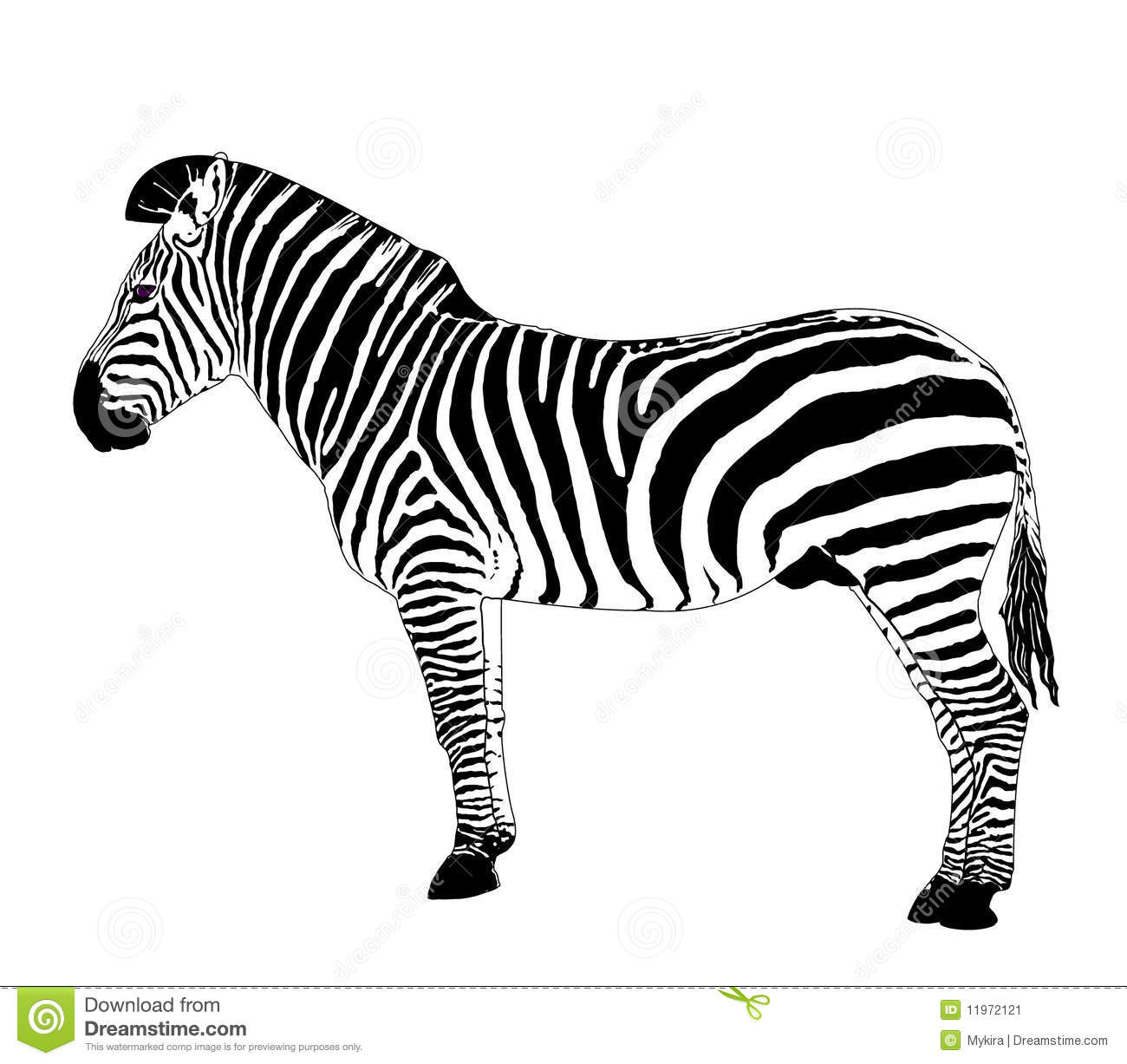 Silhouette Of Family Zebra Cartoon Vector