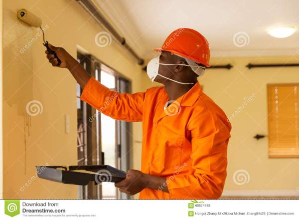 African Construction Worker Stock - 60824785