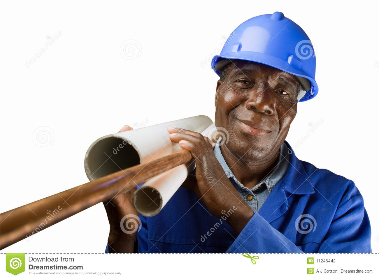 African Plumber Worker Stock Photography  Image 11246442