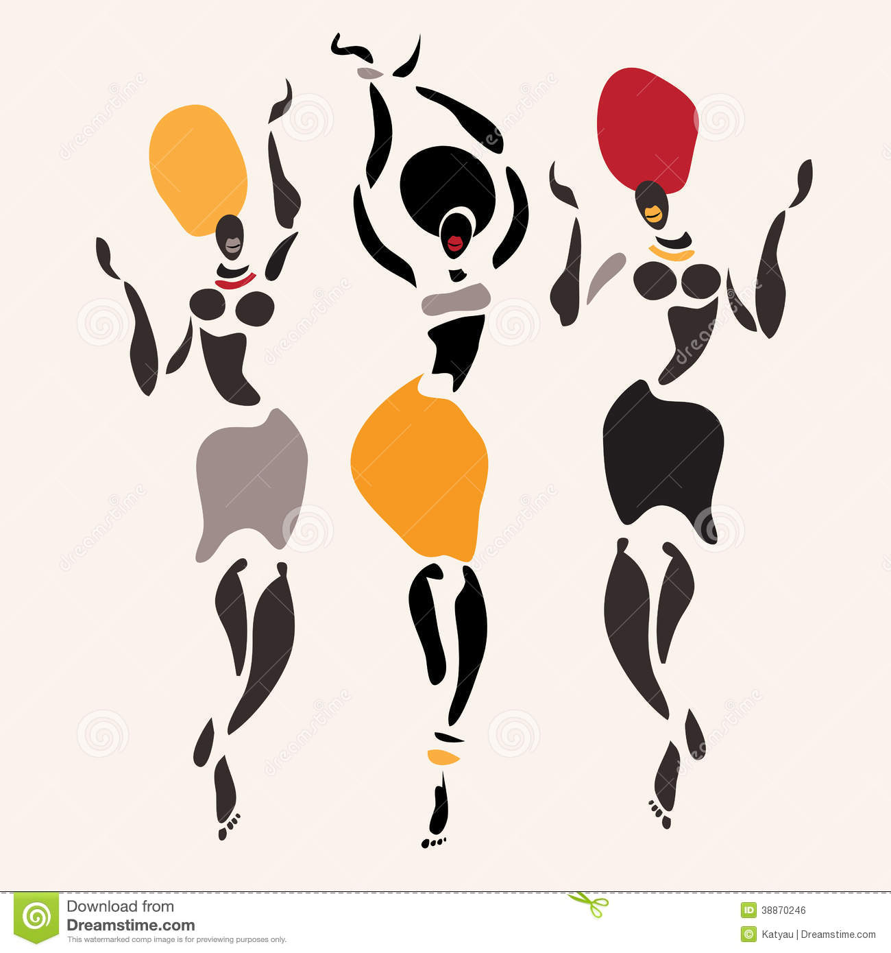 African Silhouette Set Stock Illustration Image Of
