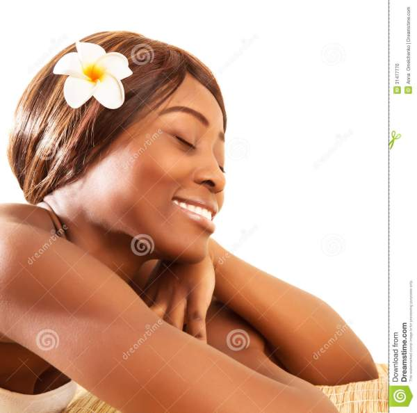 African Woman In Spa Salon Stock Of Head - 31477770