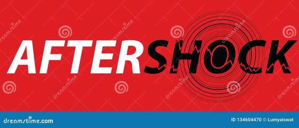 medium resolution of aftershock logo on red background