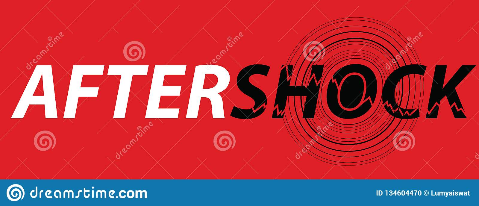 hight resolution of aftershock logo on red background