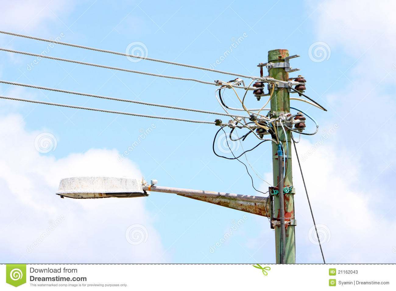 Telephone Pole Wires Diagram Light
