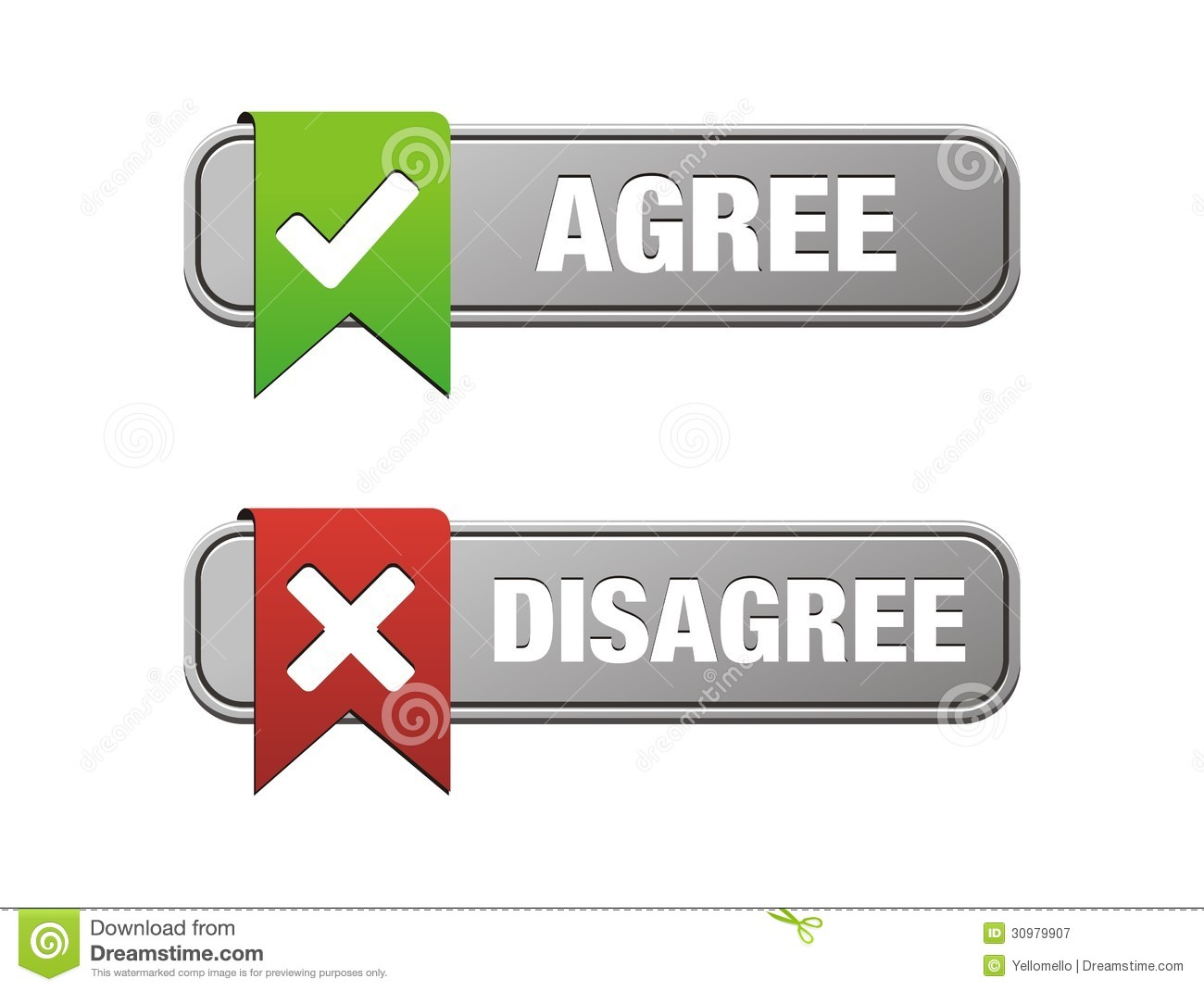 Agree Disagree Buttons Royalty Free Stock Photography
