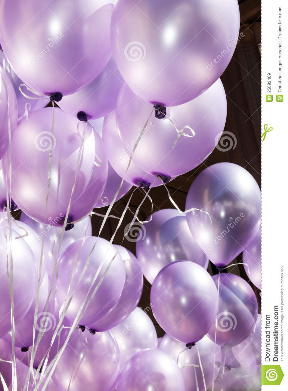 The Air Is Filled With Festive Purple Balloons Stock Image