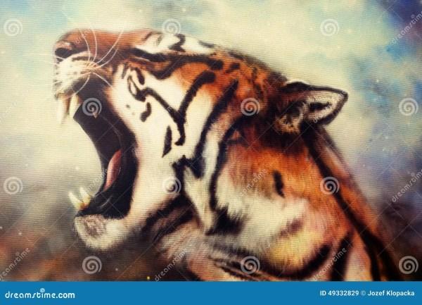 Tiger Airbrush Painting