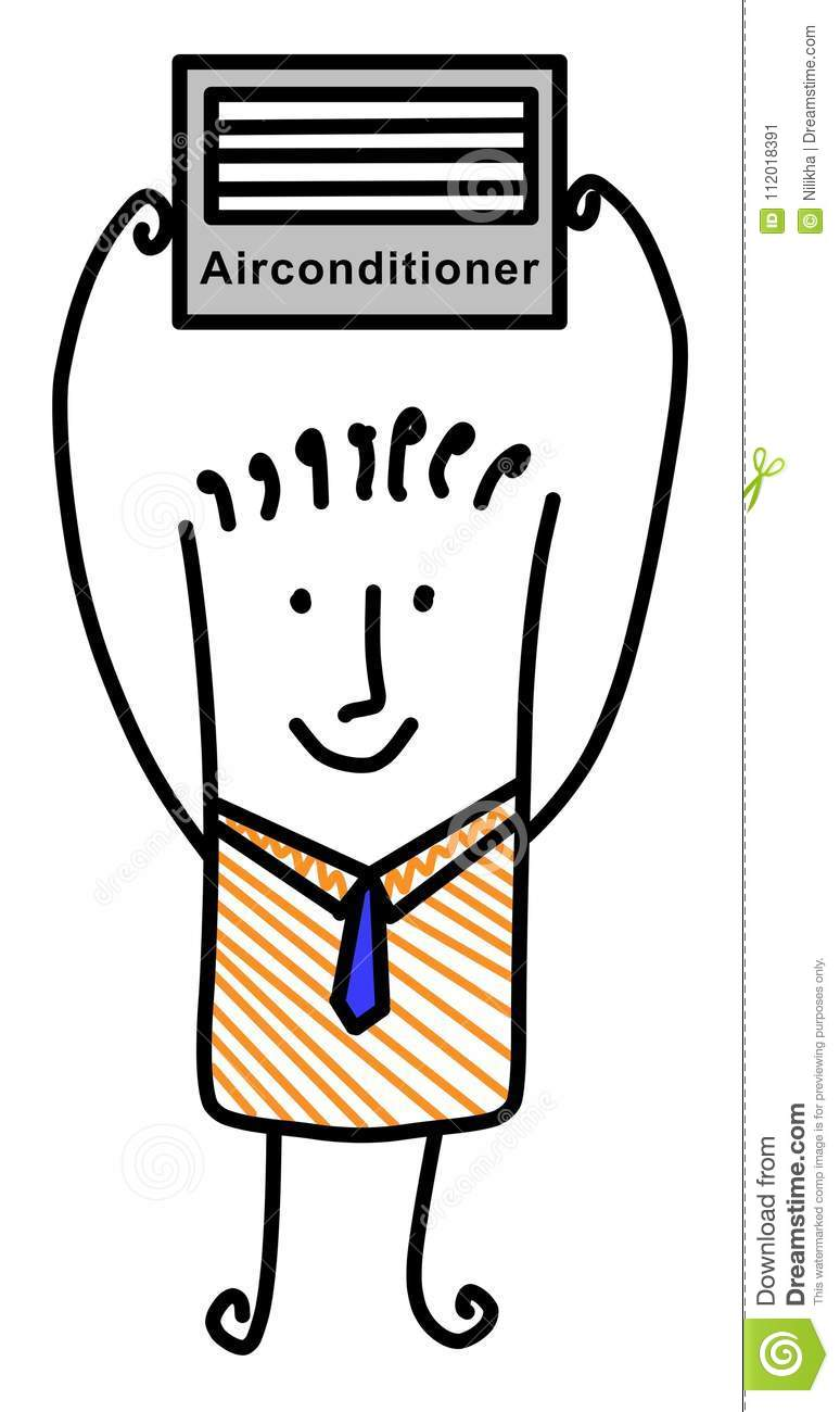 aircon business stock illustrations