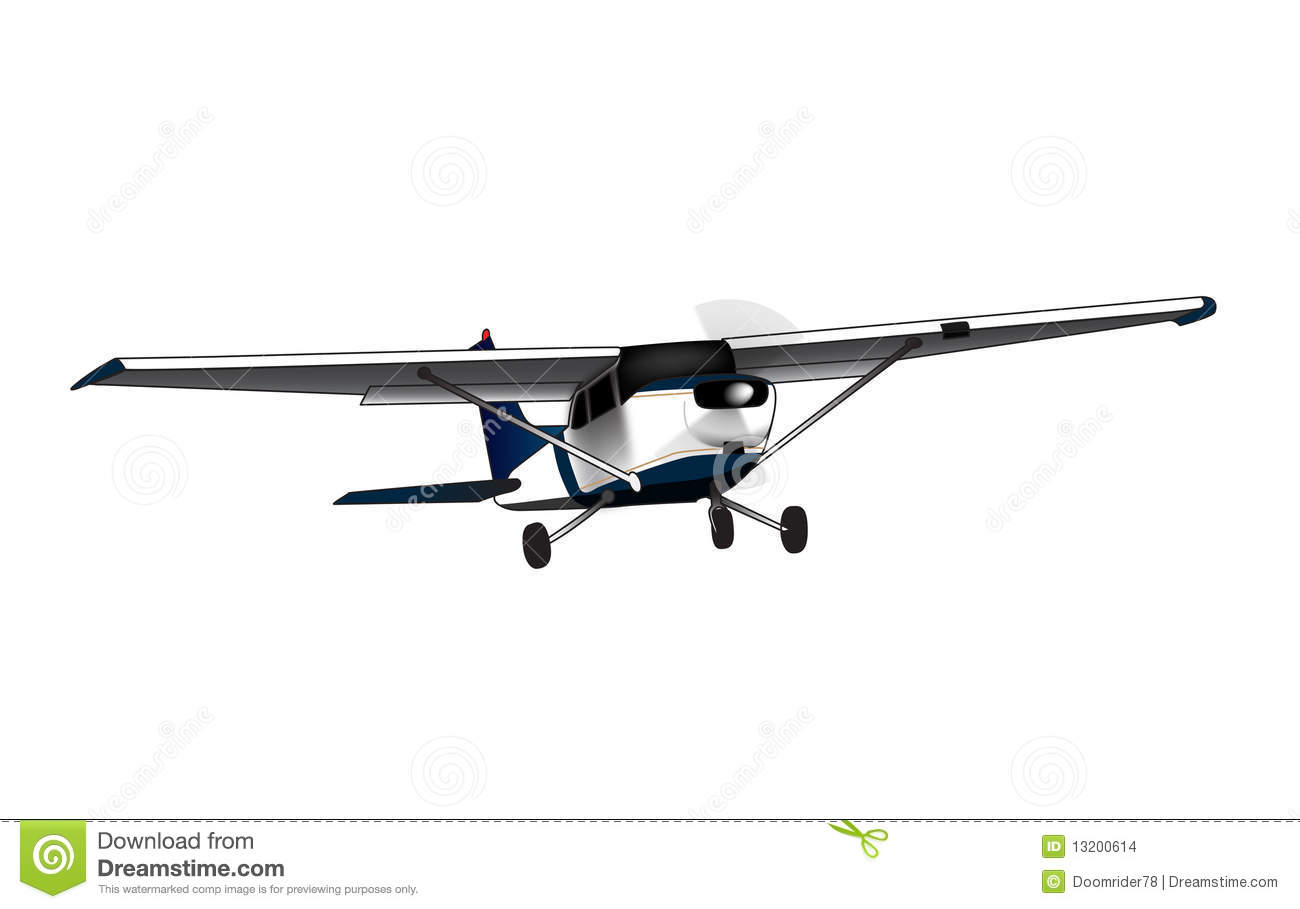 Cessna 210 Illustration Airplane Royalty Free Cartoon