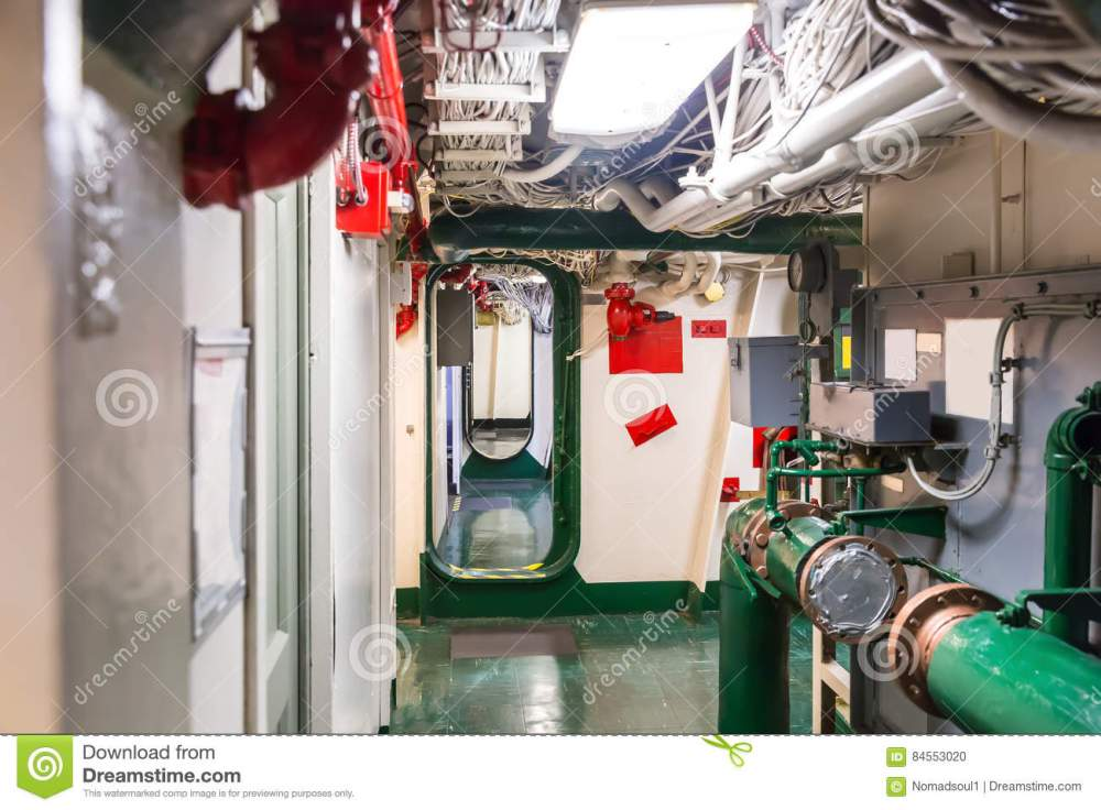 medium resolution of aircraft carrier corridor with partitions fire pipeline and wiring system midway museum