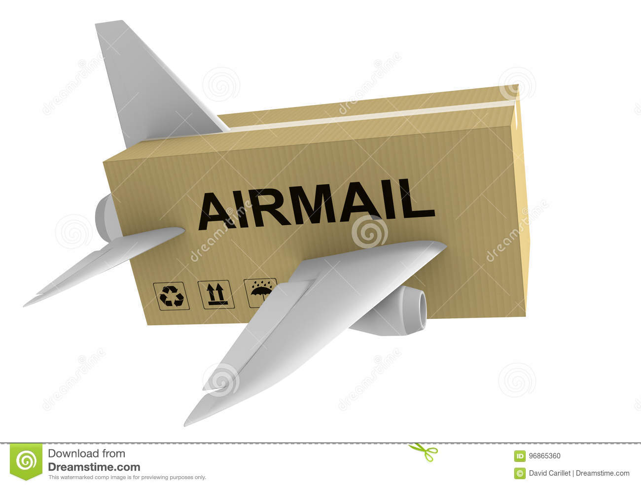airmail shipping concept of